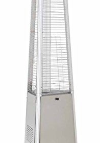 True Commercial Stainless Steel 3 Sided Pyramid Style Quartz Tube Patio  Heater With Wheels (LP) Propane 41,000 BTU Propane (LP) 3 Sided Pyramid  Heater With ...