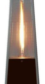True Commercial (Propane) Hammered Bronze 3 Sided Pyramid Style Quartz Tube Patio  Heater With Wheels (LP)