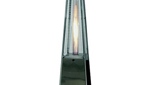 Palm Springs Pyramid Quartz Glass Tube Flame Patio Heater U2013 Stainless Steel